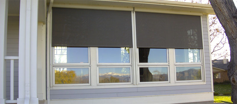 Seattle Exterior Solar Shades Motorized Automated
