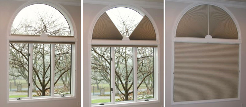 Motorized Arch Shades