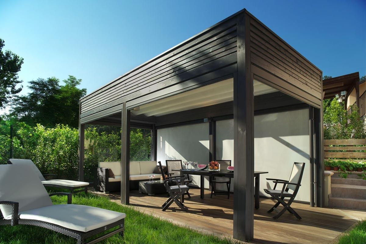 Seattle Modular Wood Patio Covers | Pure Tech Window Fashion on Patio Cover Ideas Wood id=69844